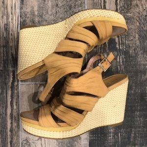 Nine West platform wedge sandals size 7.5